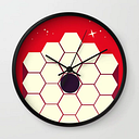 James Webb Space Telescope, Wall Clock by Nick's Emporium - Black - Black