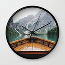 Live The Adventure Wall Clock by Adventure Is Calling - Black - Black