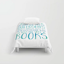 """Bookish Friendship - Blue Comforters by Bookwormboutique - Twin XL: 68"""" x 92"""