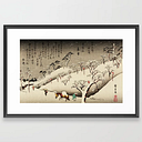 Lingering Snow At Asukayama Japan Framed Art Print by Yesteryears - Scoop Black - LARGE (Gallery)-26x38
