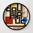 Bauhaus Poster I Wall Clock by Blue Lightning Tv - Black - Black