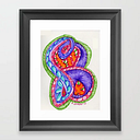 Psychelic Swirly Cue Framed Art Print by Meg Graham / Artgirlsreality - Scoop Black - X-Small-10x12