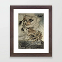 "Four Witches ""up The Chimney"" By Arthur Rackam Framed Art Print by Patricia - Conservation Walnut - X-Small-10x12"