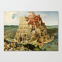 The Tower Of Babel 1563 Canvas Print by Elegant Chaos Gallery - LARGE