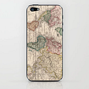 Vintage Map Of The World (1833) Iphone Skin by Bravuramedia - iPhone (5, 5s)