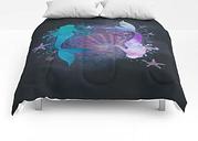 """Blue & Purple Mermaid #2 Comforters by Vitaa(tm)Y=g - King: 104"""" x 88"""
