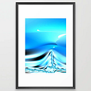 The Blues #3 Framed Art Print by Northern Lights Home Staging And Design - Scoop Black - LARGE (Gallery)-26x38