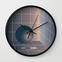 Shape Study #6 - Memphis Collection Wall Clock by Mpgmb - Black - Black