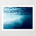 Underwater Wave Art Print by Digital Wave - X-Small