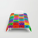 """Neon Cassettes Comforters by Beery Method - Twin XL: 68"""" x 92"""""""