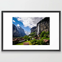 Lauterbrunnen Framed Art Print by Heather Doughty Photography - Scoop Black - LARGE (Gallery)-26x38