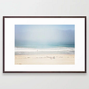 Sun And Fun Redondo Beach Framed Art Print by Catherine M - Conservation Walnut - LARGE (Gallery)-26x38