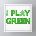 "Show Your Game Color - Green Framed Mini Art Print by Itai Rosenbaum - White - 4"" x 4"