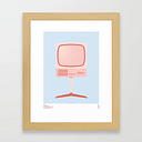 Braun Fs 80 Television Set - Dieter Rams Framed Art Print by Peter Cassidy - Conservation Natural - X-Small-10x12