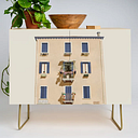 Venice Tour Modern Credenza Cupboard by Je Suis Un Lapin - Gold - Birch