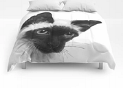 """Siamese Comforters by Laura Graves - Queen: 88"""" x 88"""""""