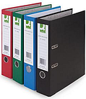 10 x Q-Connect Coloured Lever Arch Files, Black