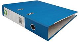 Q-Connect Paper-Backed Blue Lever Arch Foolscap File Ref KF20030X