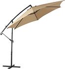 Inqbrands 1.9-ft Tan Garden Patio Umbrella Crank