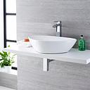 Aufsatzwaschbecken, oval – 590mm x 390mm, ohne Hahnloch – Select