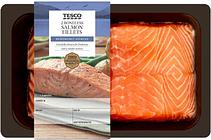 Tesco 2 Boneless Salmon Fillets 260G