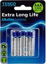 Tesco Extra Long Life Aaa 4 Pack