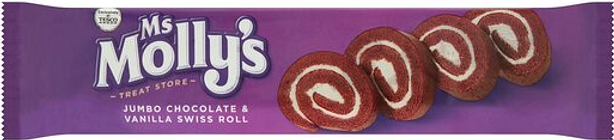 Ms Mollys Jumbo Chocolate & Vanilla Swiss Roll