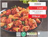 Tesco Slim Cook Meatball Pasta 500G