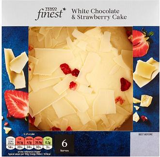 Tesco Finest White Chocolate & Strawberry Cake