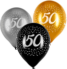 Tesco Age 50 Balloons 6 Pack