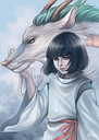 Spirited Away Haku Print