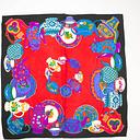 Multicolored Bold Tea Party Scarf Vintage Accessory