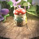 Small fairy house jar-sunflower