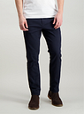 Men's Navy Blue Slim Fit Chinos With Stretch