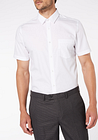 Men's White Slim Fit Short Sleeve Shirt 2 Pack