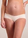 Women's Maternity Pink Lace Detail Low Cut Knicker Shorts