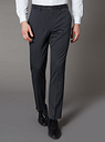 Men's Grey Slim Fit Trousers With Stretch