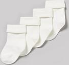Cream Roll Top Socks 4 Pack - Tu Clothing by Sainsbury's