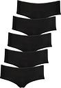 Women's Black Knicker Shorts 5 Pack