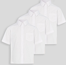 White Stain Resistant School Shirts 3 Pack - Tu Clothing by Sainsbury's