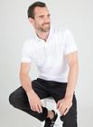 Men's Lilac Block Stripe Short Sleeve Polo Shirt