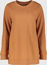 Women's Brown Longline Sweatshirt