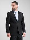 Men's Black Textured Slim Fit Tuxedo Dinner Jacket With Stretch