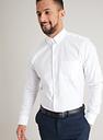 Men's White Pure Cotton Button-Down Tailored Fit Shirt