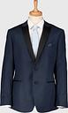 Men's Navy Blue Skinny Fit Tuxedo Jacket