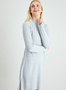 Women's Grey Cable Yolk Soft Touch Jumper Dress