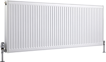 Radiador Convector Horizontal con Panel Doble Plus - Blanco - 600mm x 1600mm x 73mm - 2718 Vatios - Eco
