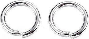 PandaHall 304 Stainless Steel Jump Rings, Close but Unsoldered Jump Rings, Stainless Steel Color, 9x1.4mm; Inner Diameter: 6.2mm Stainless...