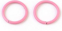 PandaHall Iron Jump Rings, Close but Unsoldered Jump Rings, HotPink, 18 Gauge, 10x1mm; Inner Diameter: 8mm Iron Ring Pink
