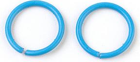 PandaHall Iron Jump Rings, Close but Unsoldered Jump Rings, DeepSkyBlue, 18 Gauge, 10x1mm; Inner Diameter: 8mm Iron Ring Blue